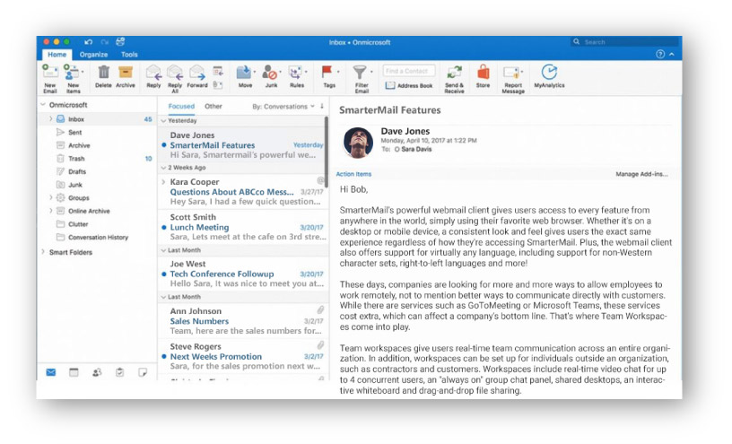 Cliente outlook mac